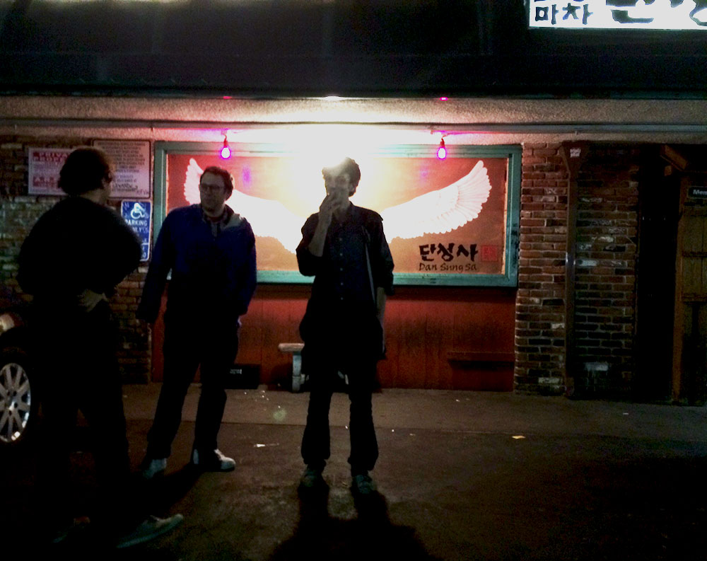 Suzanne Kraft, Willie Burns & Christian S in Koreatown, Los Angeles