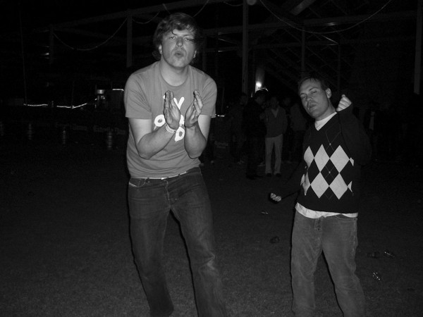 Jan Lankisch of Tomlab and Justin Kellam of No Kids, 2005 (Photo: Jan Lankisch)