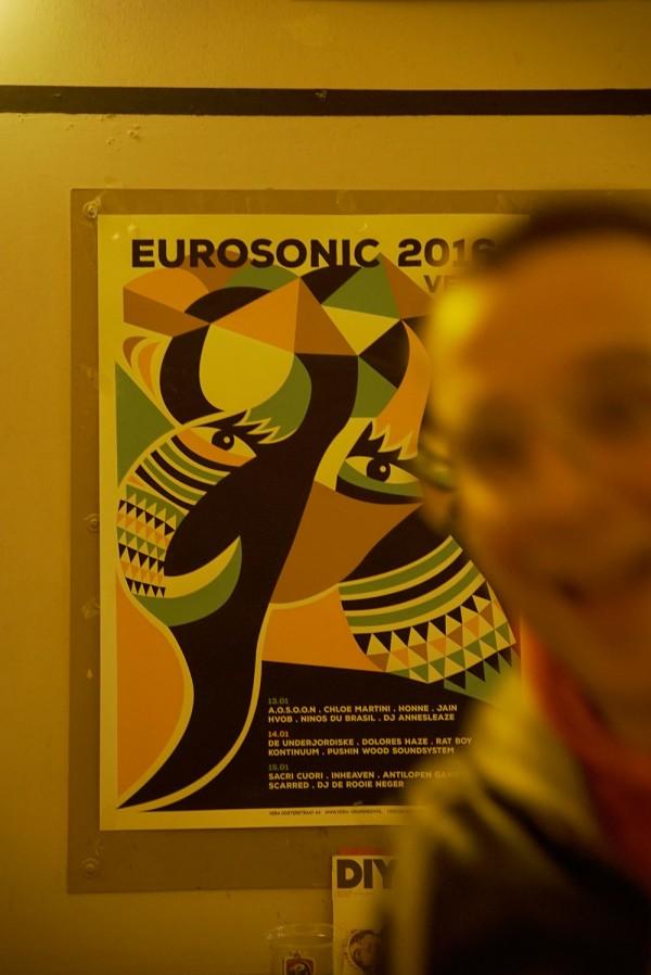 Eurosonic Plakat. Photobomb inclusive.
