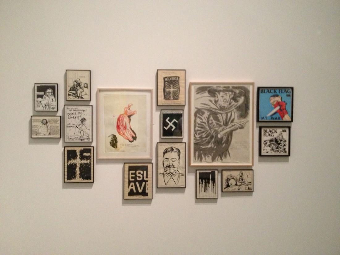 Raymond Pettibon wall