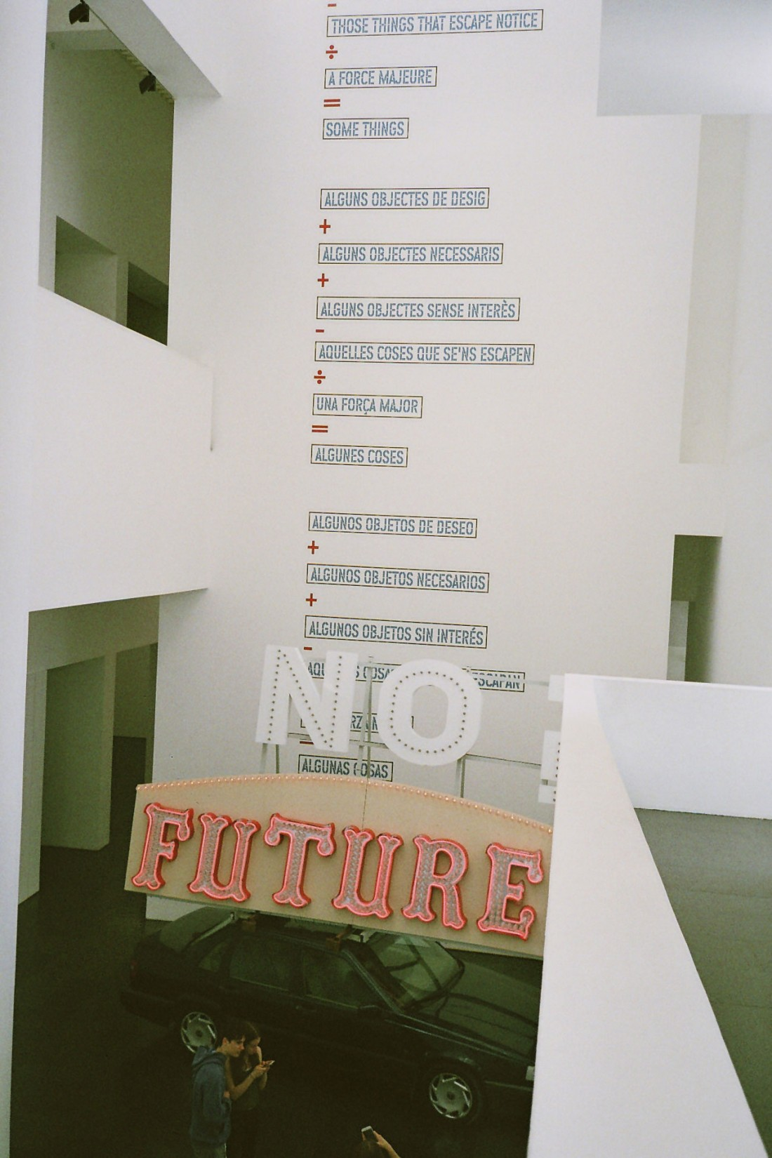 "Lawrence Weiner says: ""No Future"""