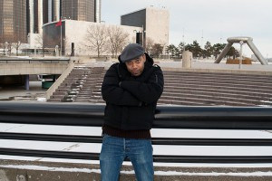 Carl Craig in front of Hart Plaza
