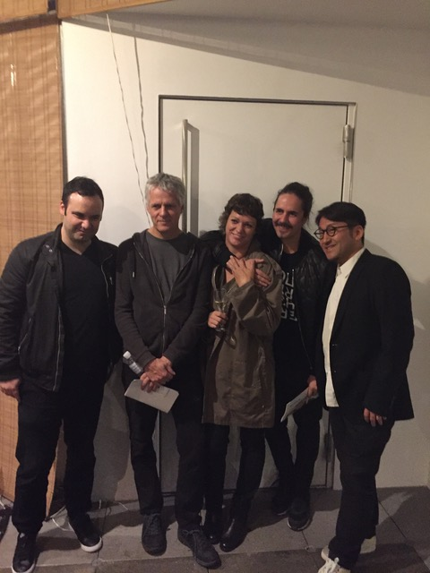 Mutek Japan Crew with Alain Mongeau (the big boss of Mutek) and Audrey from Mutek Montreal
