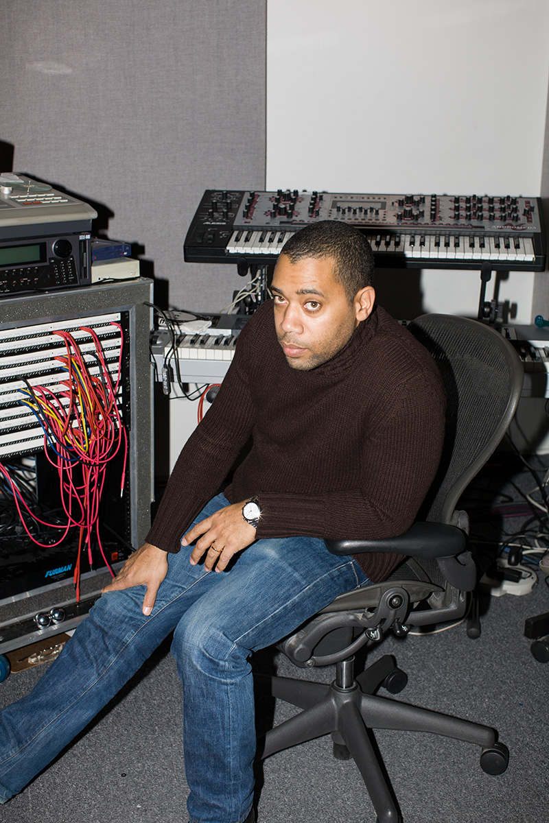Carl Craig in his studio