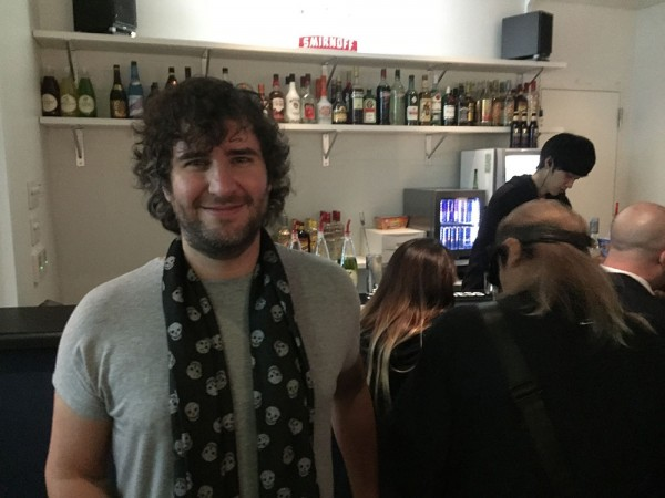 Mathew Jonson hang out at the bar
