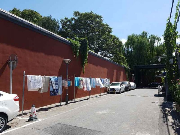 The clothes line beyond the forbidden town