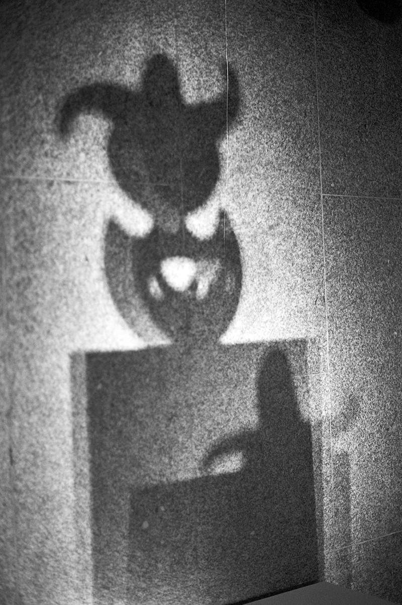 """""""The Max Ernst retrospective in New York City. The shadow of the sculptor """"Moonmad"""". My favorite picture of them all."""""""