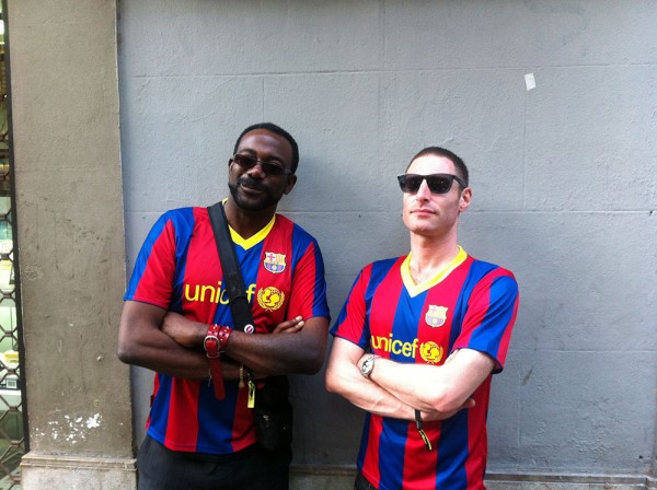 Festival or soccer? Well, first we watched Barcelona win, then we got lost in music. 2011. (Photo: Thomas Venker)