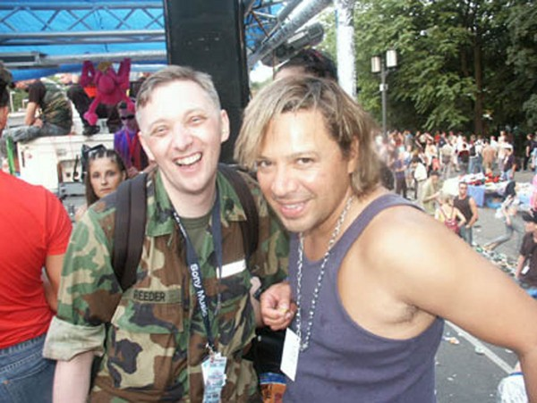 Love Parade 19xxx, Marrk Reeder & Rick xxx (Quelle: Mark Reeder)