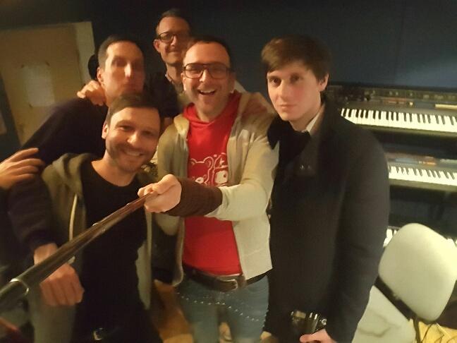 ... beim Selfie mit der Crew ...