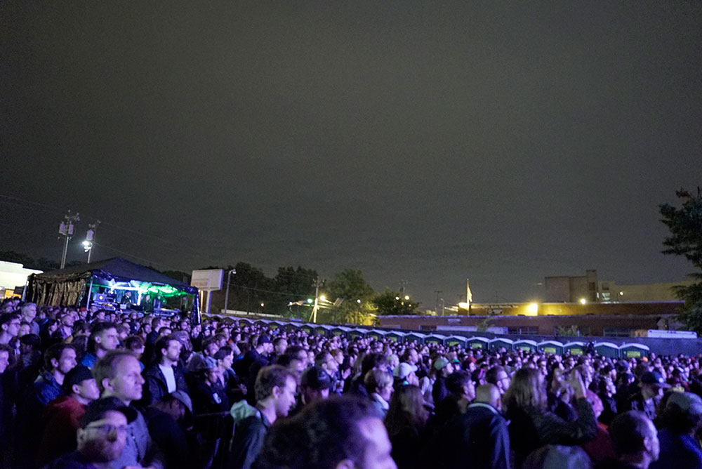 Audience during the Blood Orange show