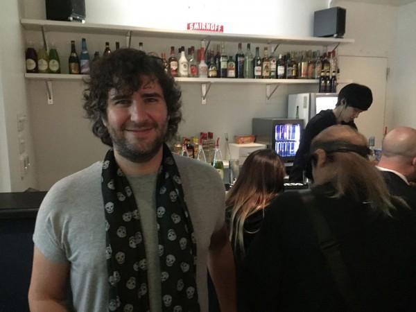 Mathew Jonson hang out at the bar