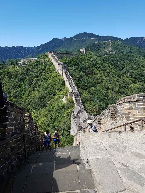 Entering the city from Tower 5 of the Great Chinese Wall