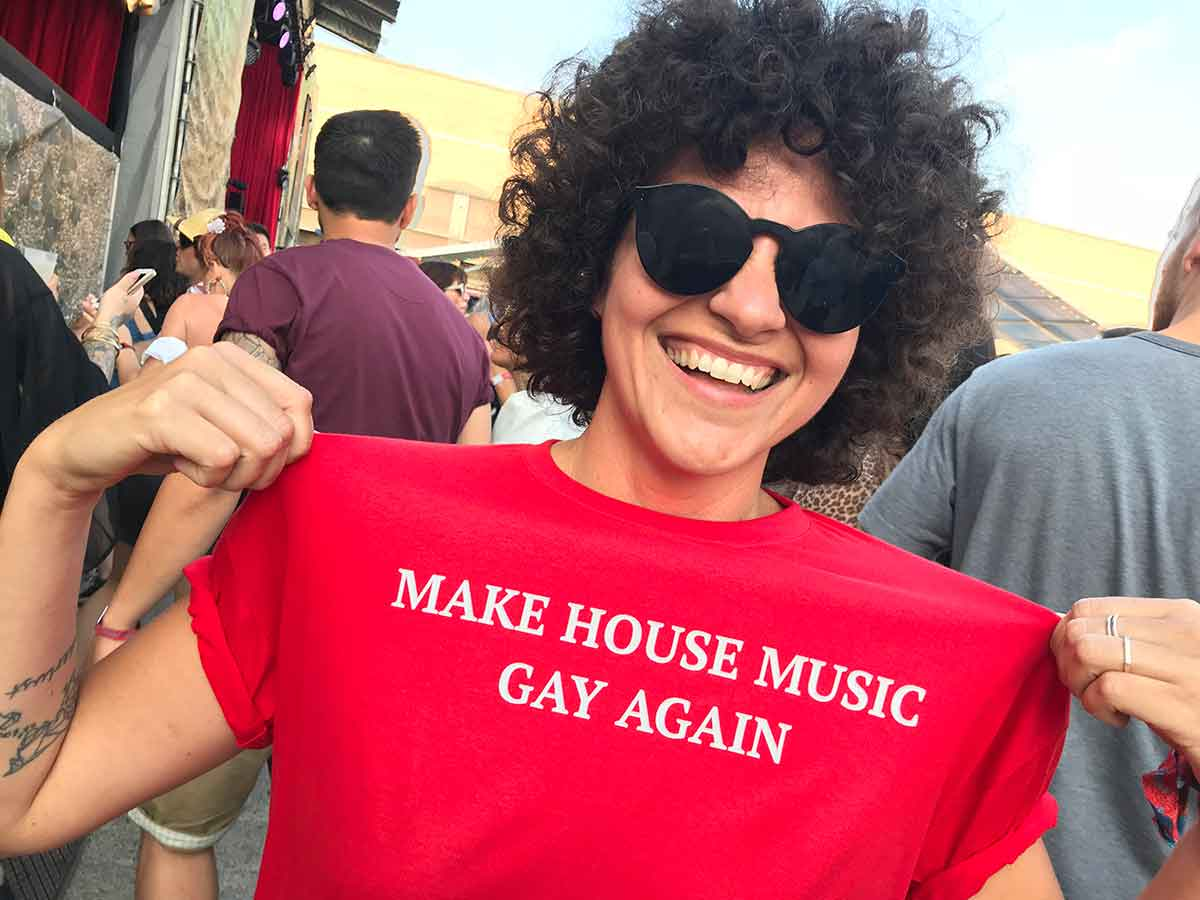 "– and a clear message: ""Make House Music Gay Again"""
