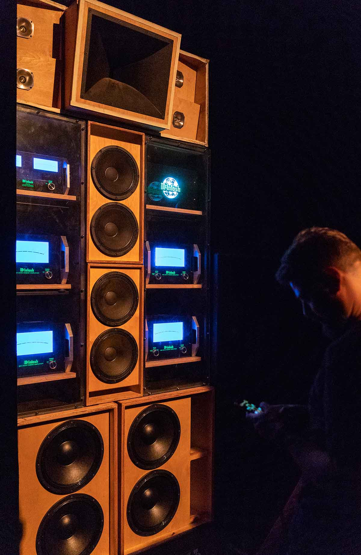 in a sweaty and dark room