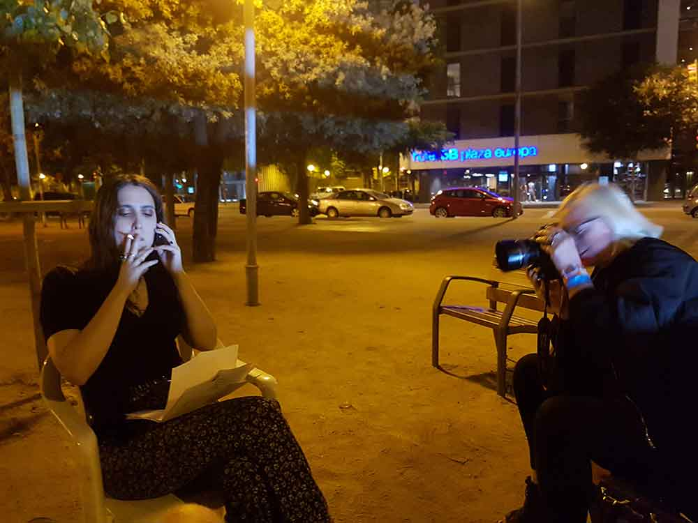 A classic Katja Ruge moment: all eyes on the object of her desire